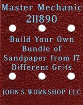 Build Your Own Bundle Master Mechanic 211890 1/4 Sheet No-Slip Sandpaper 17 Grit - $0.99