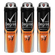 Degree Men MotionSense Antiperspirant Dry Spray, Adventure 3.8 oz, 3 count - $32.33