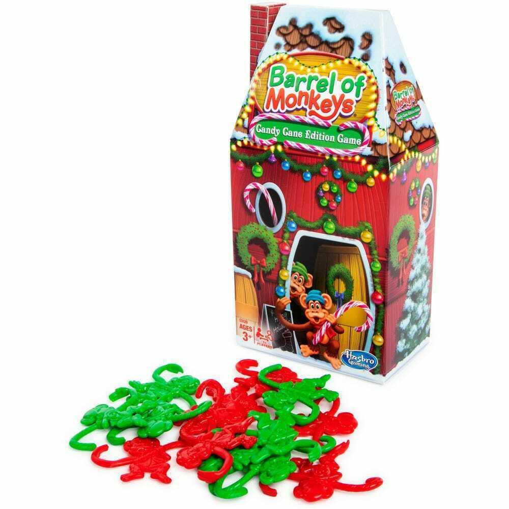 Holiday Edition Hasbro® Mini Game Barrel of Monkeys w