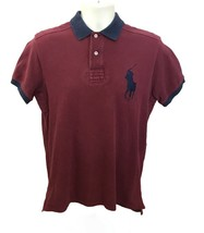 Ralph Lauren Polo Red Maroon Custom Fit Men's Short Sleeve Big Pony Shirt M - $20.89