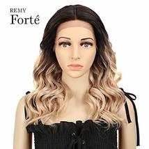 REMY FORTE Long Bob Lace Front Heat Resistant Hair Wigs, Medium Long Wav... - $34.42