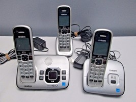 Uniden D1680  Cordless Phone/Answering System w/ 3 Handsets w/ Batteries - $63.00
