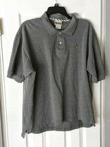 Walt Disney World Men's Polo Shirt Embroidered Mickey Mouse Gray Short Sleeves L - $13.95
