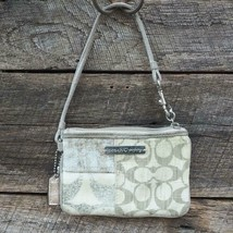 Coach Poppy Bag Logo Tan Beige Wristlet - $24.74