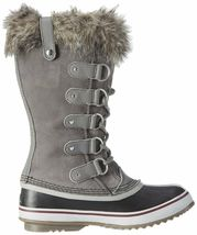 SOREL Womens Quarry/Black Insulated Leather Joan Of Arctic Winter Snow Boots NIB image 3