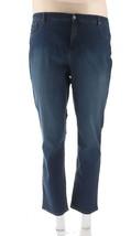 Denim & Co Reg Slim Straight Leg Jeans Antique Denim 18W NEW A296667 - $26.71