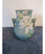 "Roseville Pottery Clematus #103 Vase Double Handles 6""  - $38.65"