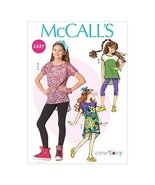 McCall's Patterns M7114 Children's/Girls' Plus Tops/Dress/Leggings & Hea... - $14.21
