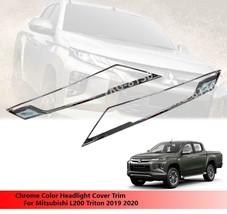Chrome Headlight Headlamp Cover Trim For Mitsubishi L200 Triton 2019 2020 - $59.22