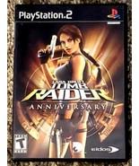 LARA CROFT: TOMB RAIDER ANNIVERSARY (PS2, 2007) Complete w/ Manual WORKS! - $11.87