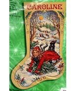 Bucilla Winter Fun Sledding Christmas Girl Snow Cross Stitch Stocking Ki... - $162.95