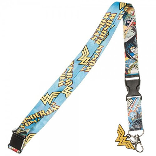 Wonder woman comic strip lanyard