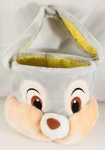 Thumper Bunny Easter Egg Basket Soft Plush Floppy Ears DISNEY Store  - $11.88