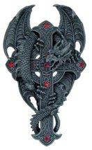 Atlantic Large Wall Dragon Crucifix Celtic Plaque Figurine Statue - $45.99