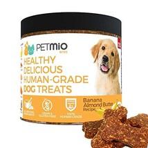 PetMio Bites - Human Grade Dog Treats, Banana Almond Butter Pumpkin Recipe, Cert