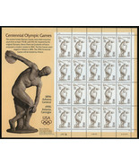 1996 32c Olympic Games, Discobolus, Sheet of 20 Scott 3087 Mint F/VF NH - $11.40
