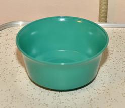 Rare vintage turquoise Anchor Hocking cereal bowl blue green aqua bowl mid centu - $9.99
