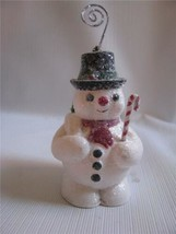 Snowman Ornament Place Card Holder  Retro Style  Bethany Lowe - $13.37