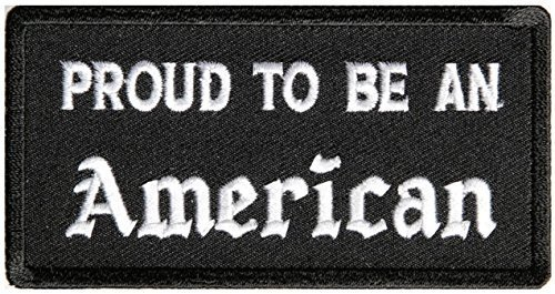 Proud To Be An American Patch - 4x2 inch