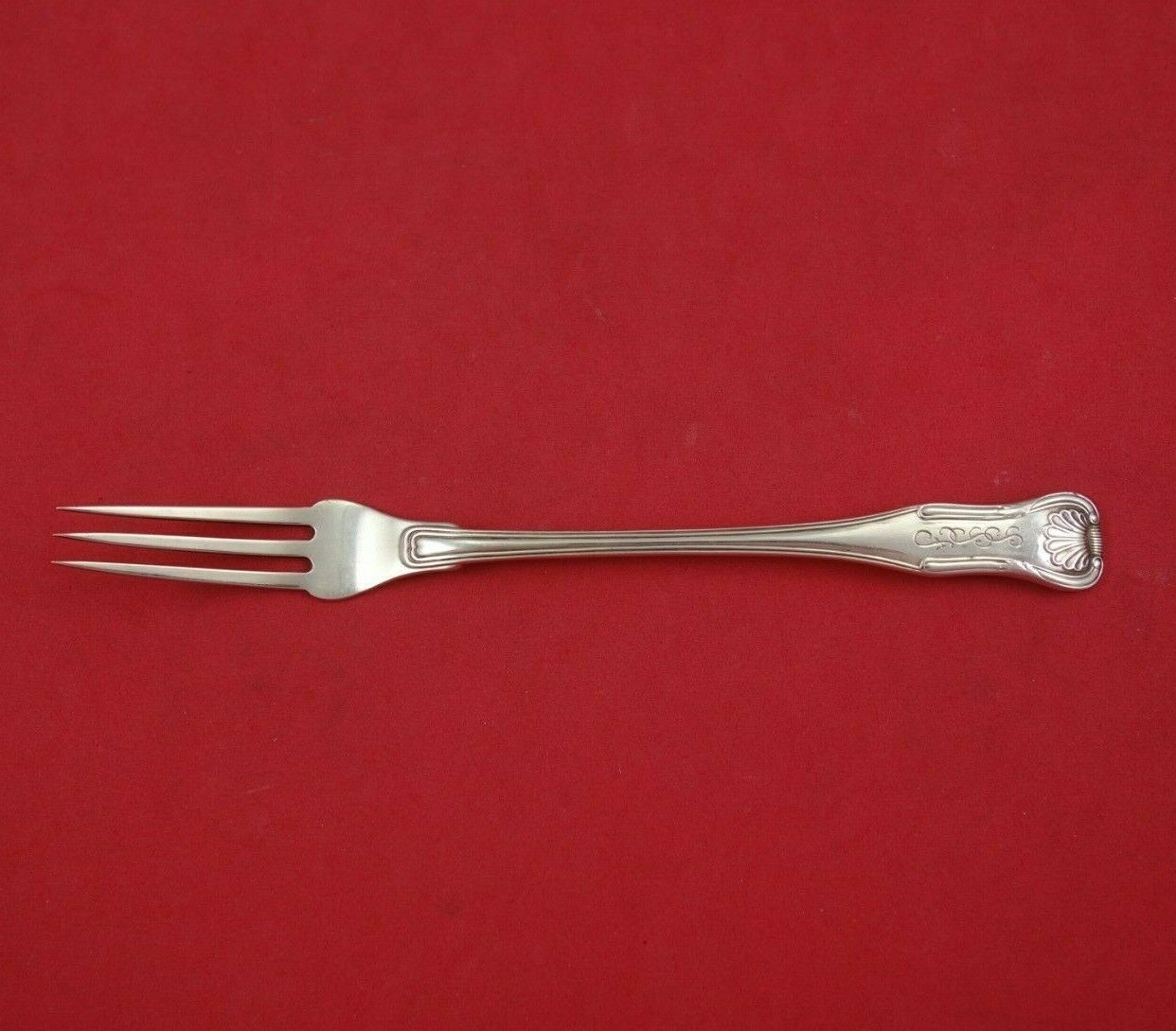 "Primary image for King by Kirk Sterling Silver Fruit Fork Flat Handle All Sterling 6 1/2"" Antique"