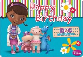 CAKEUSA Doc McStuffins Characters Cast Birthday Cake Topper Edible Image 1/4 She - $9.99