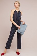 NWT ANTHROPOLOGIE STRIPED HALTER JUMPSUIT by DOLAN LEFT COAST L - $76.49