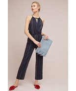 NWT ANTHROPOLOGIE STRIPED HALTER JUMPSUIT by DOLAN LEFT COAST L - $89.99
