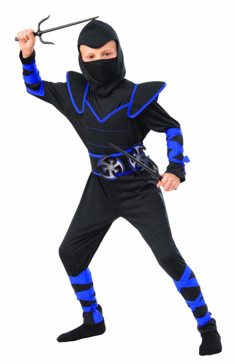 Rubies Blue Ninja Fighter Throwing Stars Childrens Halloween Costume 700927