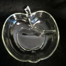 VTG Large Apple Shaped Glass Divided Serving Bowl HAZEL ATLAS Orchard MC... - £21.38 GBP