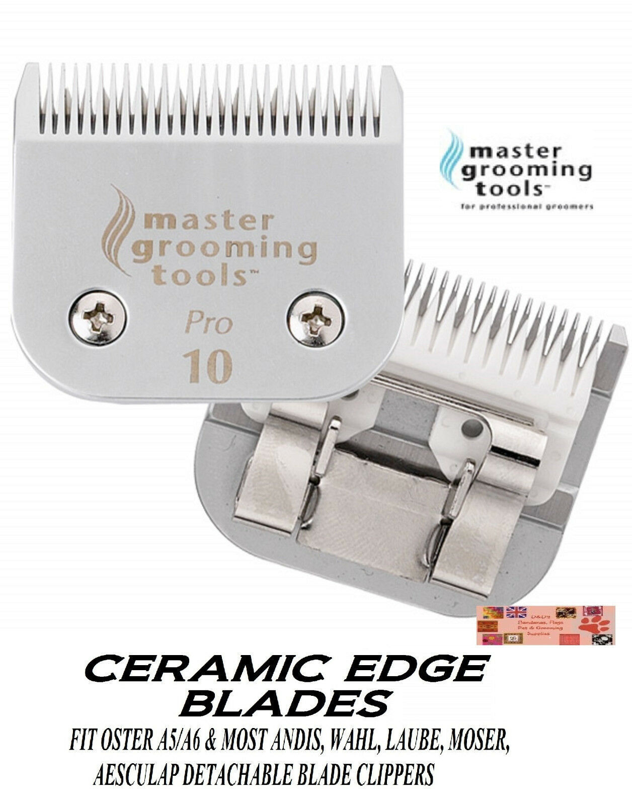 PRO CERAMIC Edge Pet Grooming 10 Blade Fit Oster A5/A6 MOST Andis,Wahl Clipper - $31.91