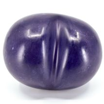 """Vaneal Group Hand Carved Soapstone 2-Sided Purple """"Live"""" Heart Paperweight image 3"""