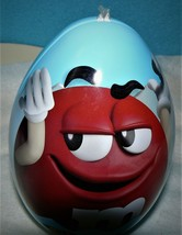 Mars - M&M - Milk Chocolate Easter Egg - Blue Tin - Red - Empty - $4.21