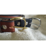 """Handmade Amish Leather Belt in Black choice of Rounded Buckle 1 1/2"""" width - $39.00"""