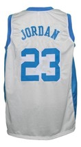 Michael Jordan #23 College Basketball Jersey Sewn White Any Size image 2