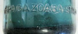 Blue/Green Seltzer Bottle Etched Coca-Cola Bottling Glass Circa 1940's image 3