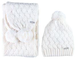 Bench Womens Seedpearl Acrylic Kuddle Bobble Beanie Winter Hat & Scarf Set NWT image 1