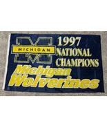 1997 University of Michigan Wolverines National Champion Football Flag L... - $48.26