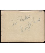DWIGHT WEIST Autograph signed on album page, famed announcer - $18.81