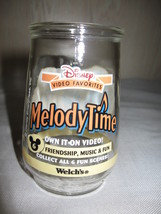 Collector Glass Disney Melody Time Showing Donald Duck Welch's 1998 - $9.95
