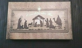 Sagebrush Fine Art Canvas Wall Plaque Christmas Xmas Religious Nativity ... - $11.51
