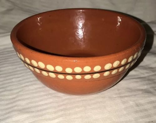 """Pottery Barn Cereal/Soup Bowl Handcrafted In Portugal 6"""" Diameter Coral Vintage"""