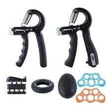Ufree Grip Strength Trainer 7 Pack Hand Grip Strengthener Forearm Workou... - $25.98