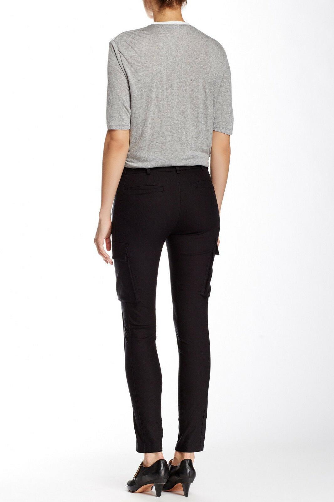 New Womens Designer NWT LAMB Gwen Stefani Cargo Pants Stretch Skinny 6 Black image 3