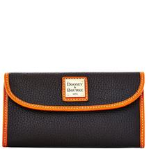 Dooney & Bourke Black Pebble Leather Continental Clutch Wallet