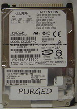 Hitachi DK23EA-40 40GB IDE 44pin 2.5in 9.5mm Drive Tested Good Our Drive... - $14.65