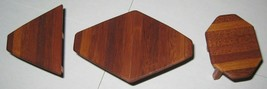 1:12 Miniature Coffee Table & 2 End Tables in Solid Mahogany OOAK Artisa... - £11.39 GBP