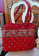 Vera Bradley large diaper bag travel tote in retired Provincial Red Pattern - $43.00