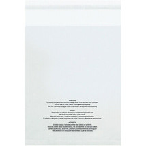 """12 x 16"""" - 1.5 Mil (100 Pack) Resealable Suffocation Warning Poly Bags -... - $31.03"""