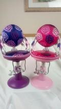 Set of 2 Our Generation Adjustable,Swivel Flower Design Barber-Hairdress... - $29.69