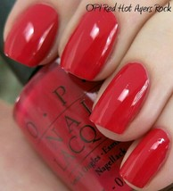 Opi Australia Red Hot Ayers Rock Light Red w/ Coral Nail Polish Lacquer A47 Rare - $11.27